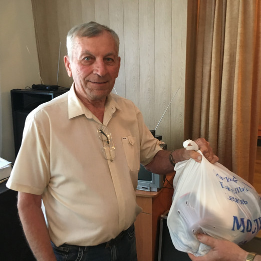 Food bag given by MPI staff during Eastern Ukraine trip