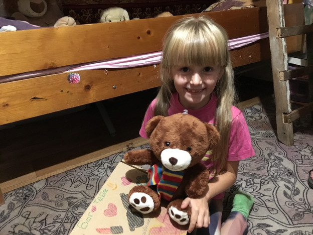 Teddy bear given by MPI missions team in village