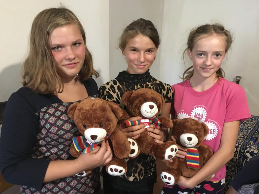 Teddy bears sent from Canada