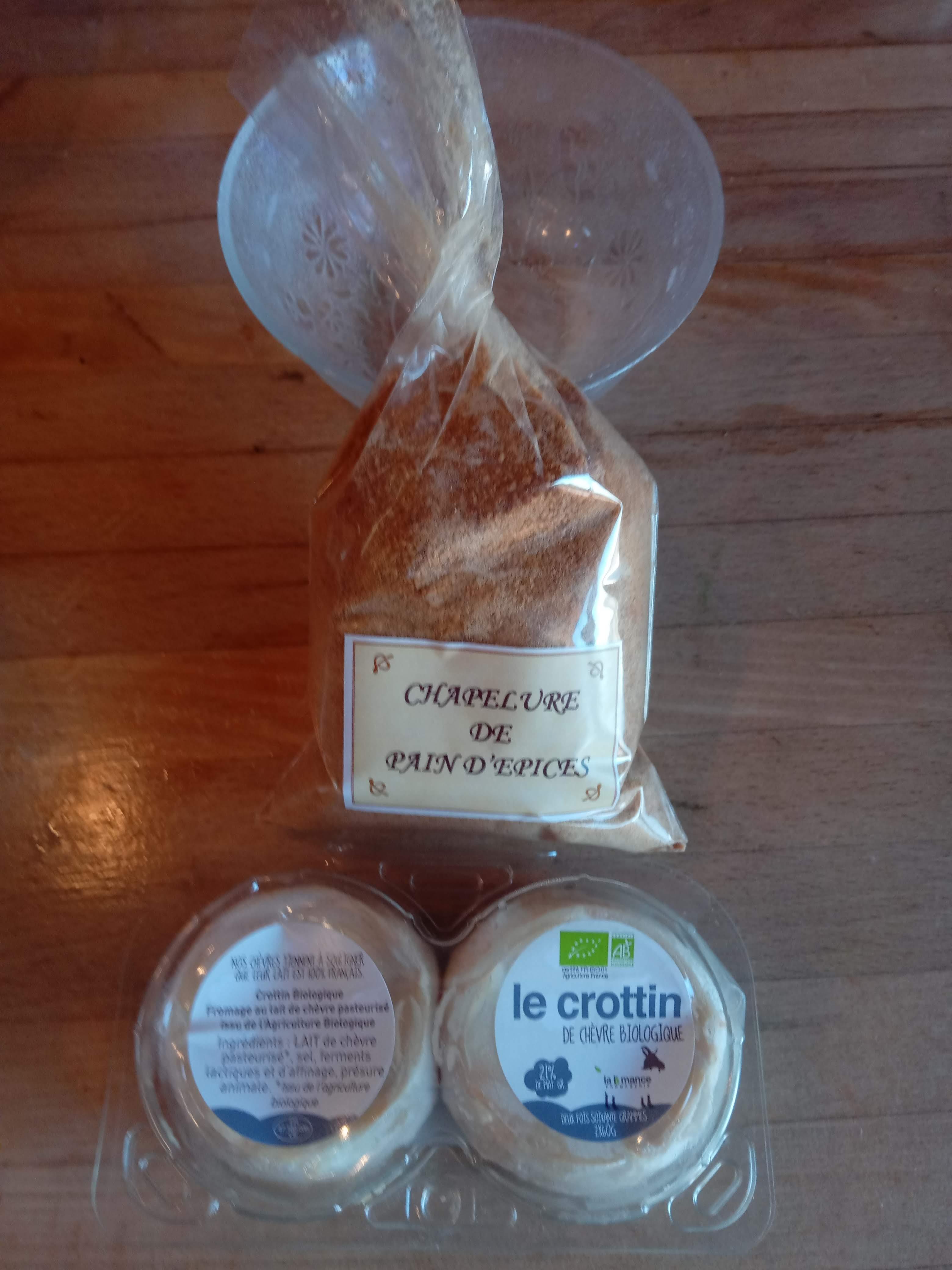 Crottins de chèvre à la chapelure de pain d'épices...