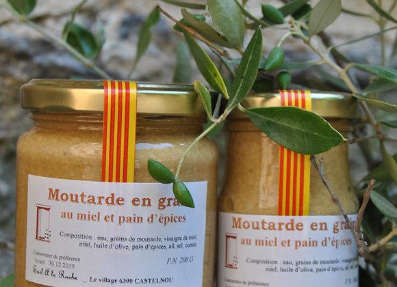 Moutarde en grain au miel et pain d'épices