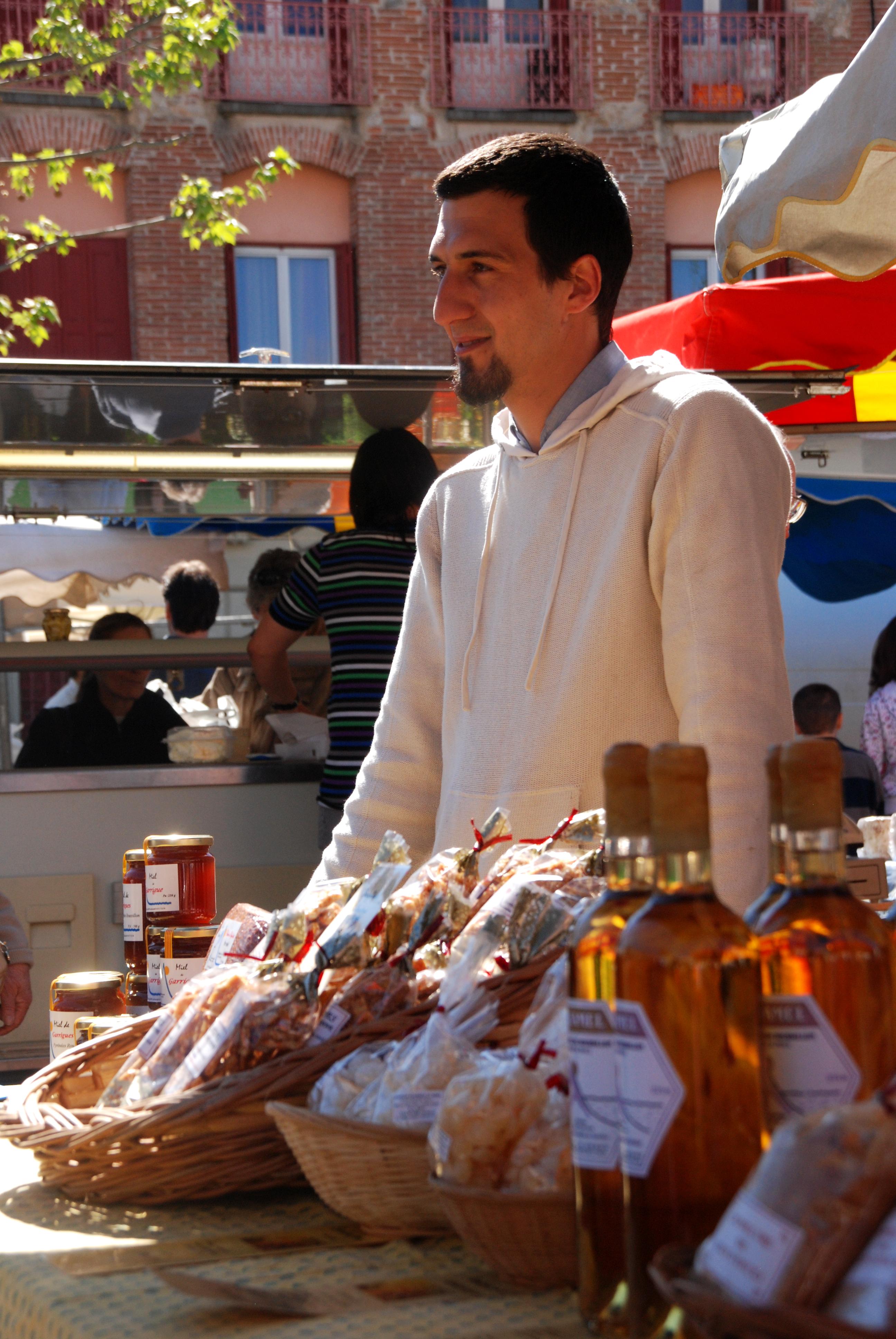 Vincent au marché