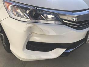 Damage close  up.