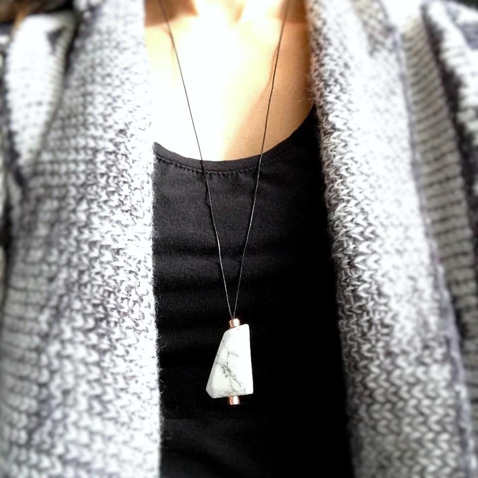 Howlite Geo Necklace