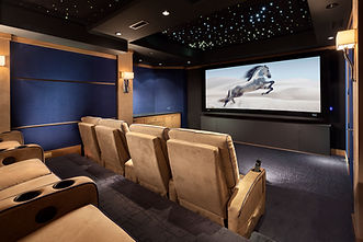 Home Theater with Constellation Ceiling.