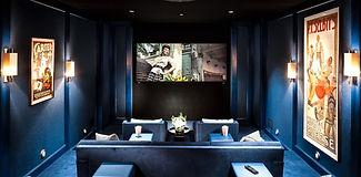 Blue home theater design