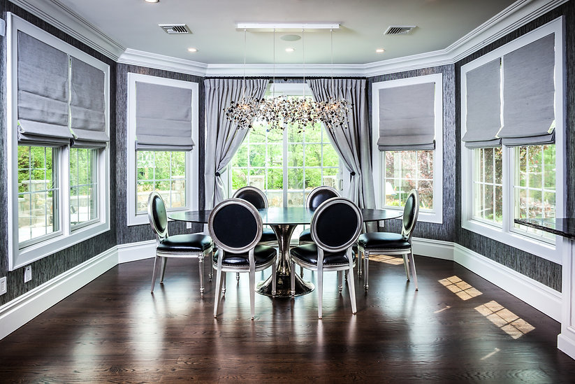 Automated Shades in Luxury Kitchen