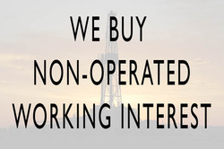 We buy non-operated working interest
