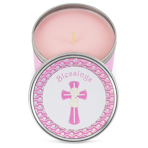 Baptism Party Favor Candles - (6-Pack) - Pink-1 Baby Shower