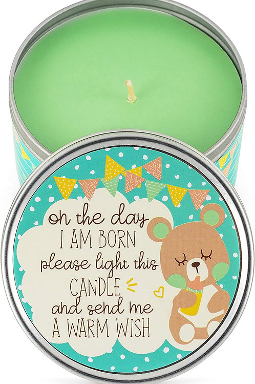 Baby Shower Party Favors Candles- for Boys, Girls - (6-Pack) - Green-2