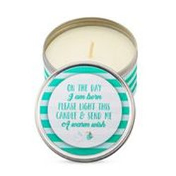 Baby Shower Party Favor Candles- 12 Elegant Green Colored Candles