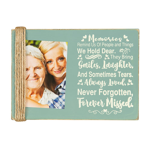 """Majestic Zen 5"""" x 7"""" Memorial Picture Frame- Holds 3"""" x 4"""" Small Green-ppl-3"""