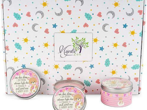 Baby Shower Party Favors Candles- for Boys, Girls - Pink-2