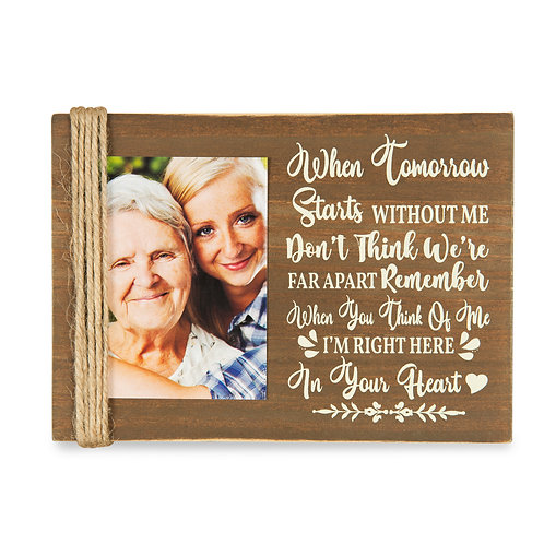 """Majestic Zen 5"""" x 7"""" Memorial Picture Frame- Holds 3"""" x 4"""" Small Wood-ppl-1"""