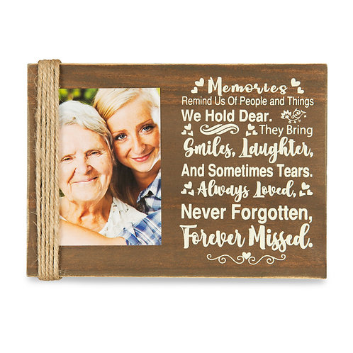 """Majestic Zen 5"""" x 7"""" Memorial Picture Frame- Holds 3"""" x 4"""" Small Wood-ppl-3"""