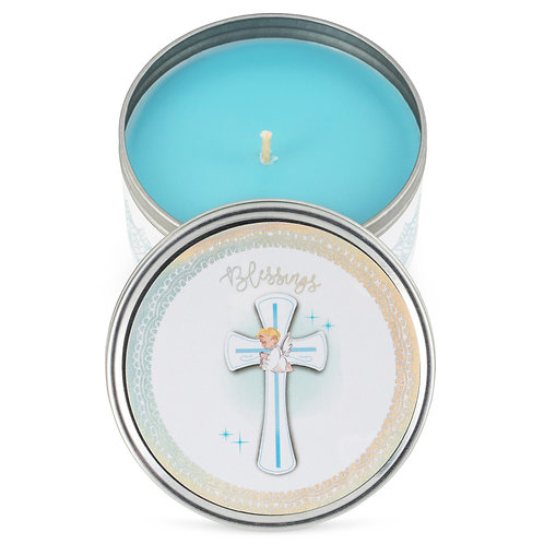 Baby Shower Party Favors Candles- for Boys, Girls - Blue-bap-1