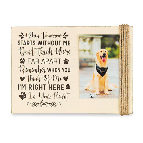 """Majestic Zen 5"""" x 7"""" Memorial Picture Frame- Holds 3"""" x 4"""" Small Beige-dog-2"""