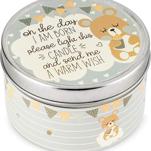 Baby Shower Party Favors Candles- for Boys, Girls - Silver-2