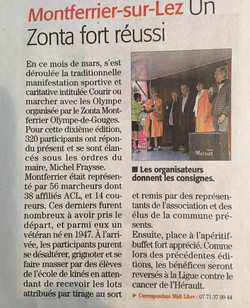 article course des olympe 2019