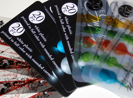 Full Color White, Frosted, and Clear Plastic Business Cards: Service Spotlight