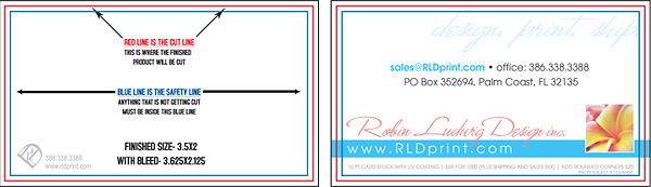 Business Card Template Example