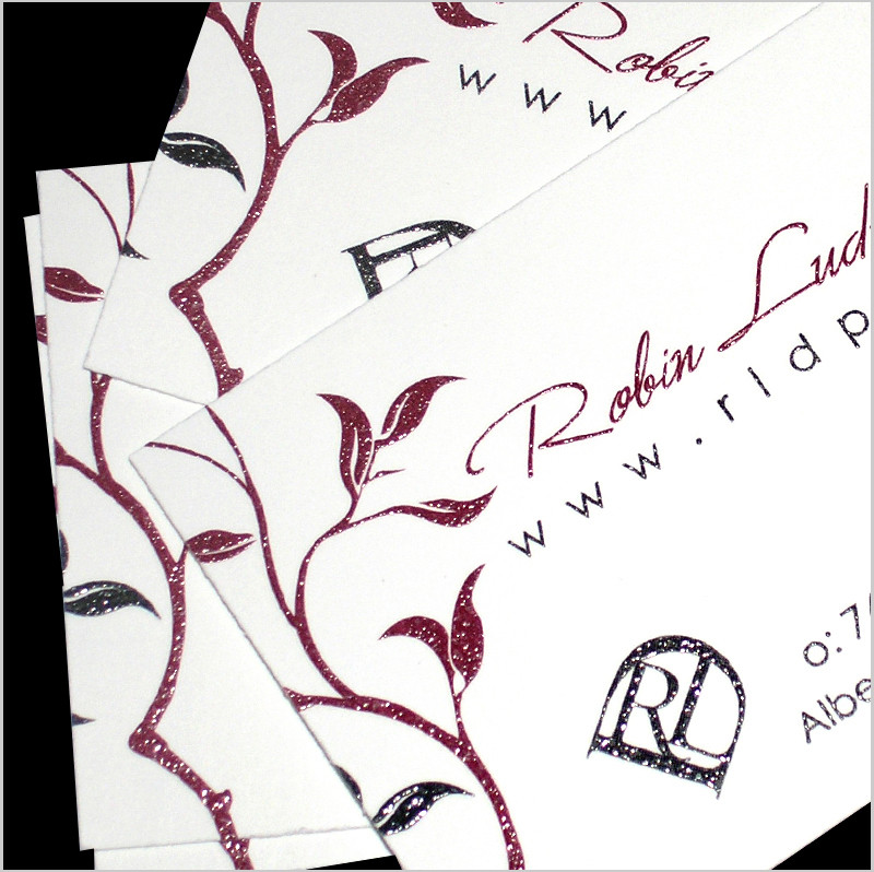 Thermography Raised Ink Business Cards
