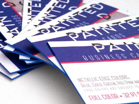 FLASH SALE: 250 Extra Thick Business Cards with Color Edge Printing for just $69 and FREE Profession
