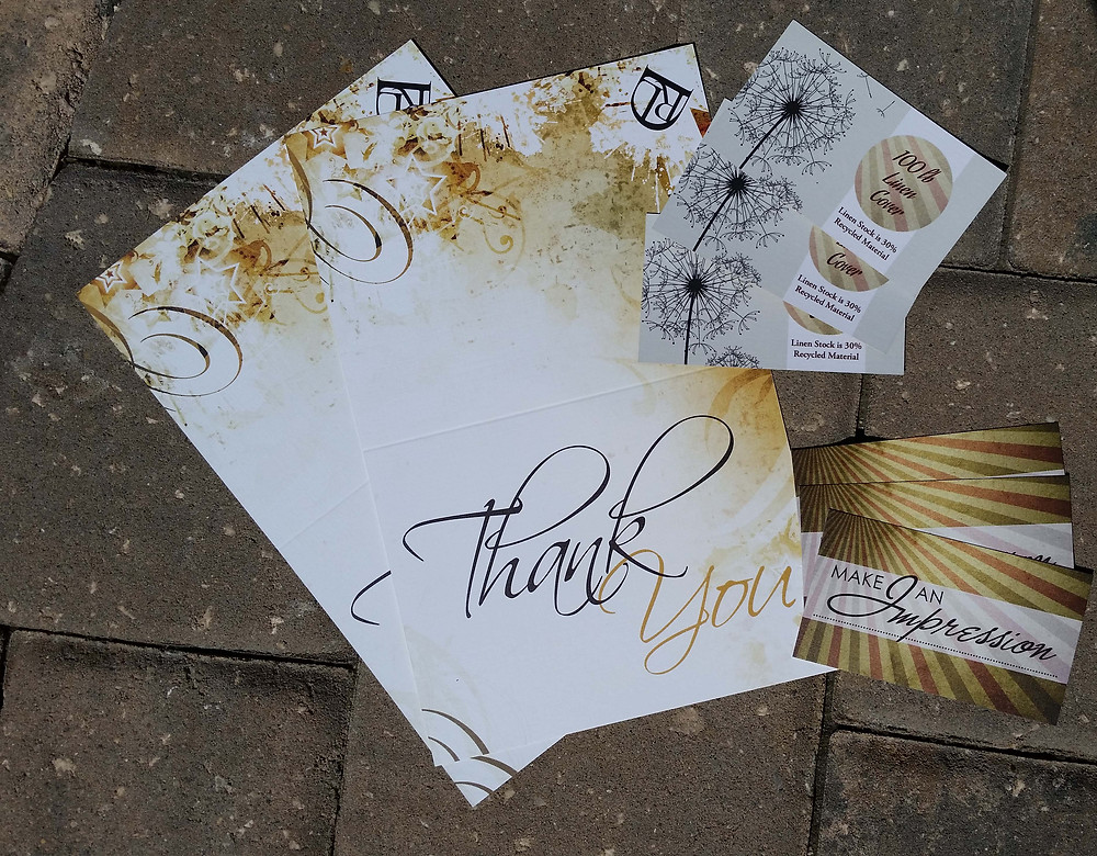 Linen Business Cards and Linen Greeting Cards