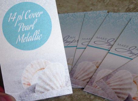 Pearl Metallic Business Cards: Service Spotlight