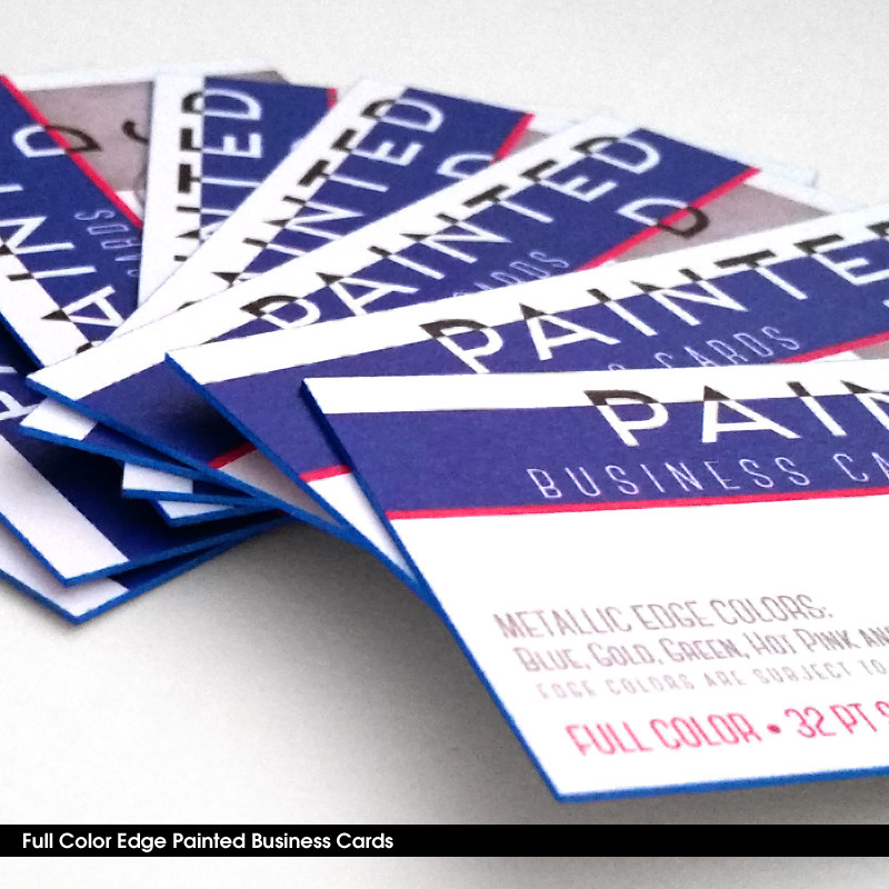 Extra Thick Business Cards With Colored Edges