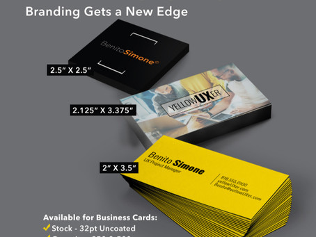 Stop the Presses! Our Extra Thick Business Cards are now available with BLACK PAINTED EDGES!