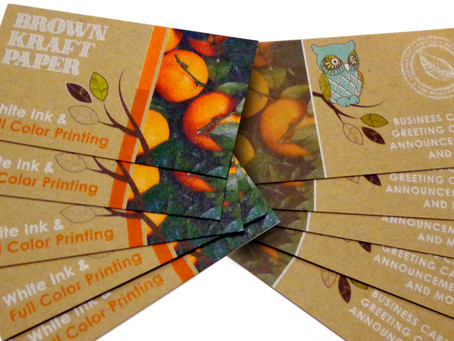 Flash Sale: 250 Brown Kraft Business Cards for just $49.00!