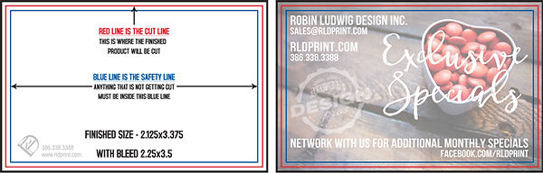 Credit Card Size Business Card Example