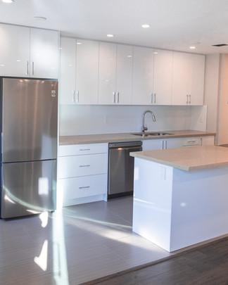 Large Modern Apartment Kitchen