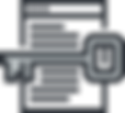 A key hovering over a document icon