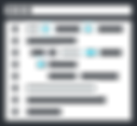 A window with some code icon