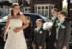 Wedding photography bride family boys