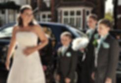 Wedding photography bride family boys