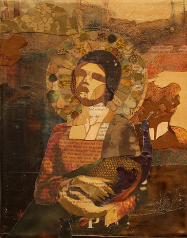 Madonna with Peacock