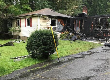 Crews Battle Pier Lane House Fire