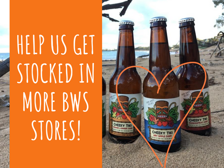 Vote for Cheeky Tiki Cider in BWS Local Luvva