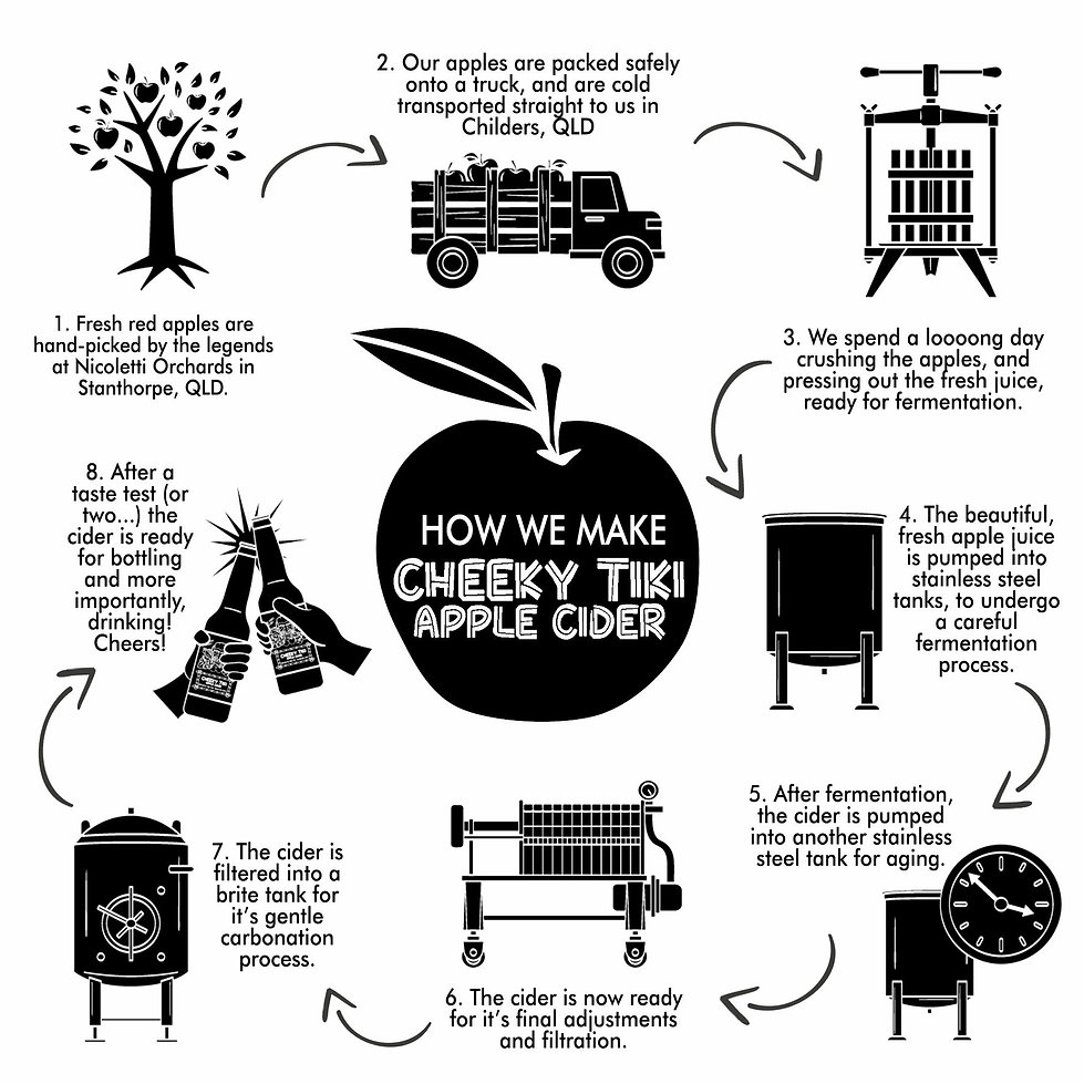 Info graphic about how apple cider is made