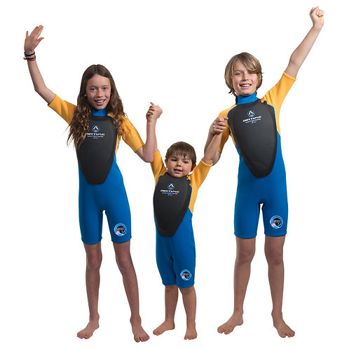 Wetsuit for kids with built-in flotation