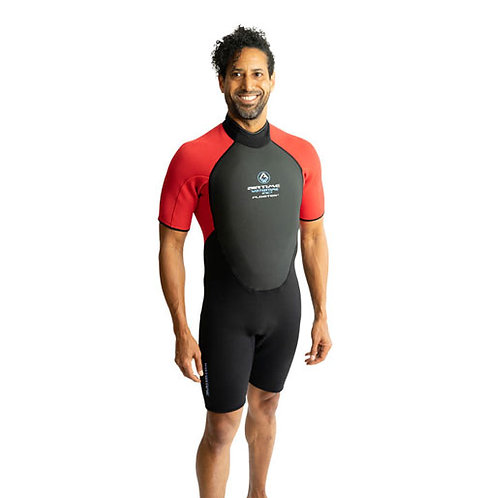 Men's wetsuit with built-in flotation
