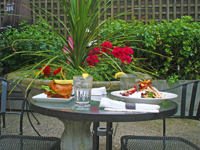 Enjoy a Delicious Meal in our Courtyard Patio