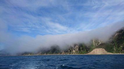 по пути на  маяк Тонино-Анивский полуостров окутали облака