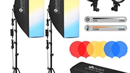 HPUSN LED Softbox Lighting Kit Professional Studio Photography Equipment