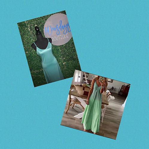 A Hue of Greens Dress