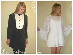 Velvet Dress & Lace Angel Dress