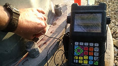 NDE Ultrasound Testing of Base Weld Connection